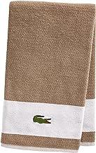 """Lacoste Match Bath Towel, 100% Cotton, 600 GSM, 30""""x52"""", Sand"""