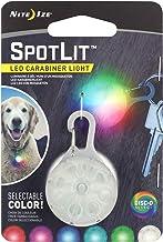 Nite Ize SpotLit LED Carabiner Light with Disc-O Select, Color-changing Keychain Light