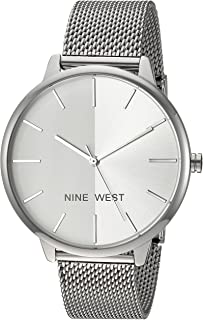Nine West Women's NW/1981 Sunray Dial Mesh Bracelet Watch