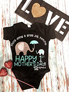 Mother's Day personalized 1st Mother's Day Onesie/Custom Mother's Day gift/First Mother's Day/You're Doing a Great Job Mommy