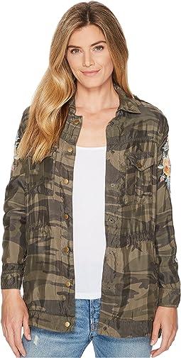 Johnny Was Brenna Drawstring Military Jacket