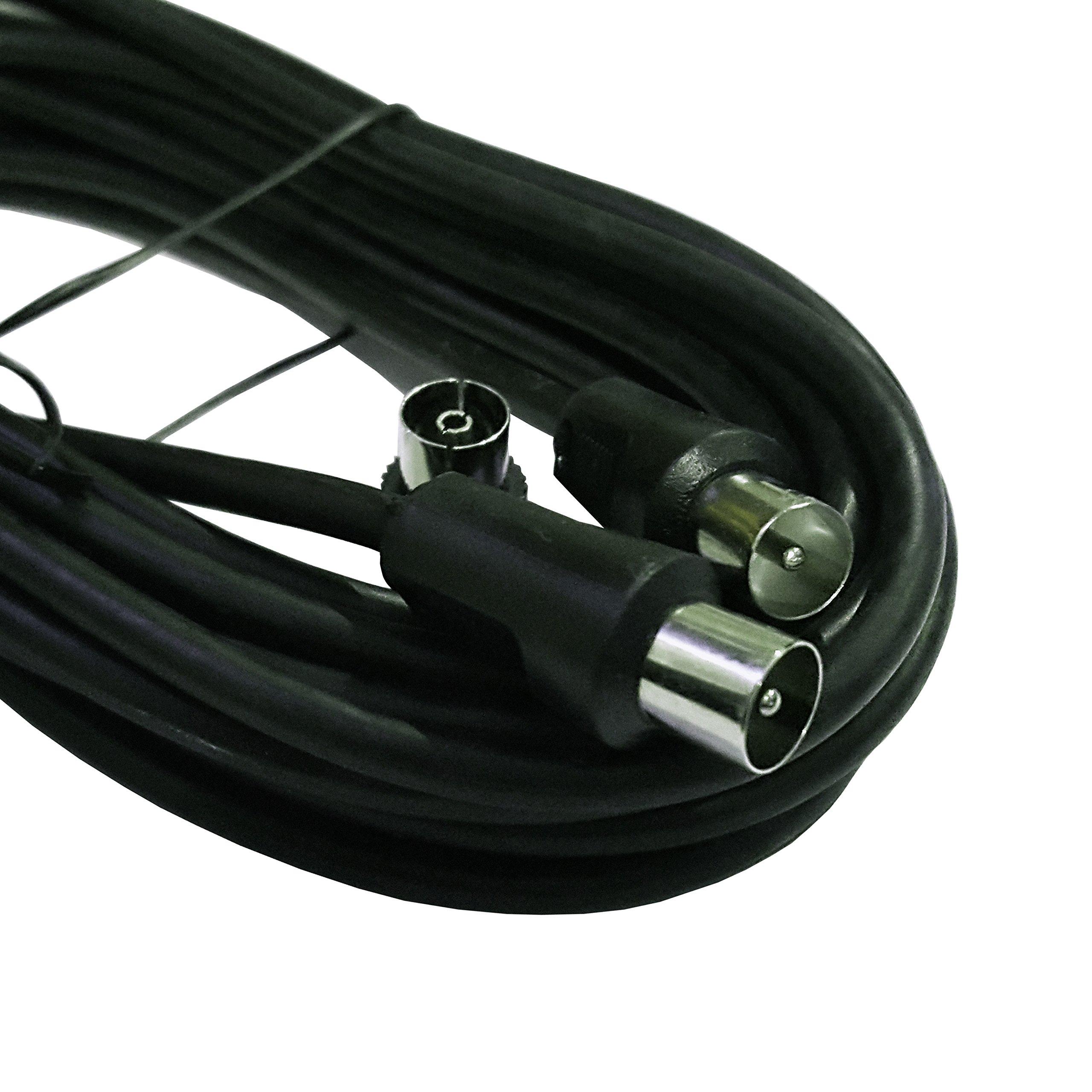 Carrefour Cable de antena 5 M (macho a macho coaxial con adaptador ...