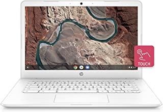 HP Chromebook 14-inch Laptop with 180-Degree Hinge, Touchscreen Display, AMD Dual-Core A4-9120 Processor, 4 GB SDRAM, 32 GB eMMC Storage, Chrome OS (14-db0070nr, Snow White) (Renewed)