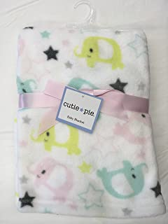Cute Elephant Baby Blanket by Cutie Pie