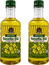 Natural Earth Products - Organic Canola Oil Expeller Pressed - Vegan, Sodium Free, Kosher - 16.9 Oz (500mL) (2-Pack)