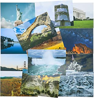 Best Paper Greetings 40-Pack USA Travel Postcards Variety Pack of United States National Monuments, Self Mailer Mailing, 20 Designs