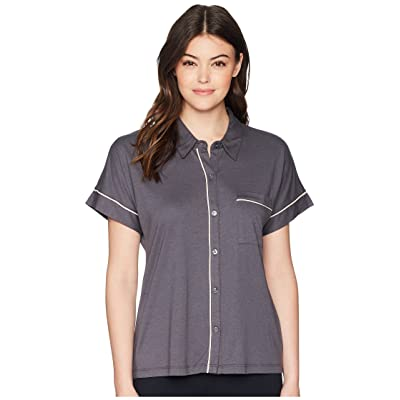 Skin Harlow Pajama Top (Grey Stone/Cafe Creme) Women
