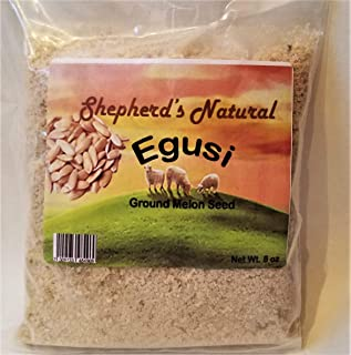 Egusi By Shepherd's Natural, Ground Melon Seeds,100% All Natural 227 grams / 8oz