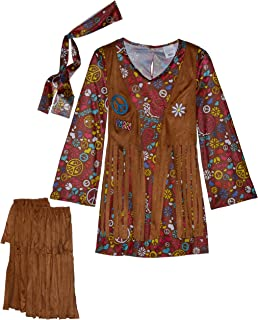 Fun World Peace & Love Hippie Costume, Medium 8 - 10, Multicolor