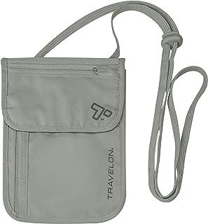 RFID Blocking Undergarment Neck Pouch, Gray