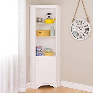Prepac WSCC-0604-1 Elite Home Corner Storage Cabinet Tall 1-Door, White