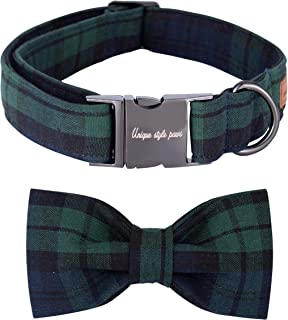 Unique style paws Christmas Dog and Cat Collar with Bow Pet Gift for Dogs and Cats Adjustable Soft&Comfy Cotton Collars 6 Sizes and 6 Patterns