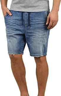 Blend Demo Herren Jeans Shorts Jogger-Denim Kurze Hose Mit Elastischem Bund Und Destroyed-Optik Aus Stretch-Material Regular Fit