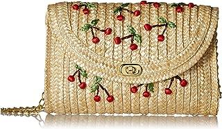 Straw Crossbody Crochet Shoulder Bag Pom Pom Tassel Pinapple Fringe Fashion Clutch - 2