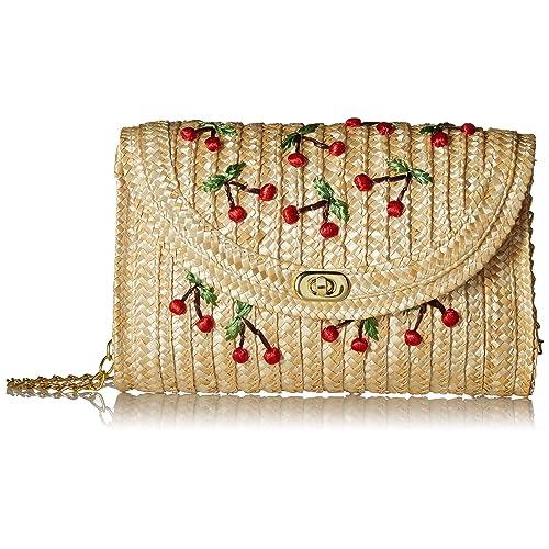 Pulama Straw Crossbody Crochet Shoulder Bag Pom Pom Tassel Pinapple Fringe Fashion Clutch - 2