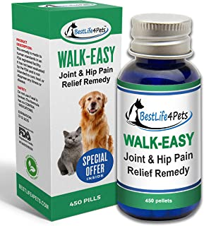 WALK-EASY Hip and Joint Supplement for Dogs and Cats; Powerful Anti-inflammatory Support and Proven Arthritis Pain Relief Pills | All Natural, No Bad Stuff, Easy To Give Your Pet