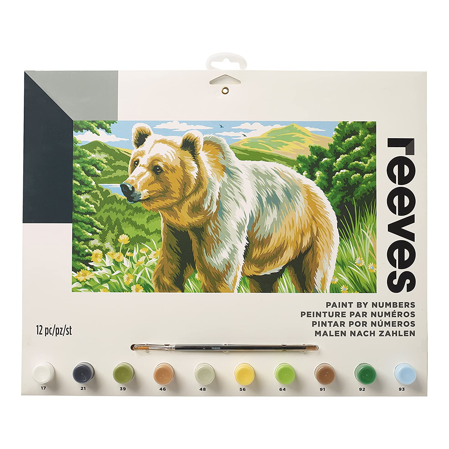 Reeves American Bear Paint by Numbers Set, Large