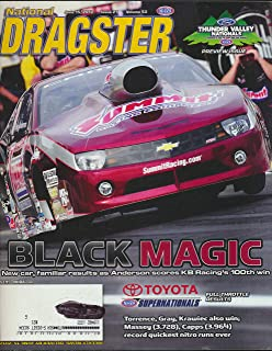 Dragster : Articles- Toyota NHRA Super Nationals; Paul Richardcs and NTB Service Central Team; Bob Tasca III honored his Grandfather; Ryan Ondrejko Strategy for Division 1 Title