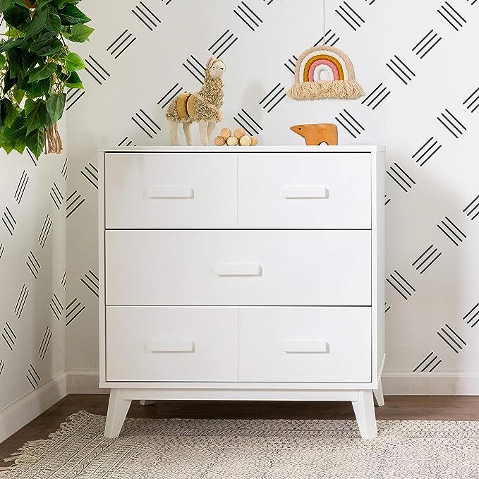 Babyletto Scoot 3-Drawer White Changer Dresser