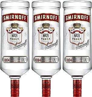 Smirnoff Red No. 21 Premium Vodka Triple Destilled, Relaunch 2019, 3er, Wodka, Alkohol, Alkoholgetränk, Flasche, 37.5%, 1.5 L, 749957