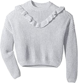 Blank NYC Kids - Ruffle Sweater in Mind Mischief (Big Kids)