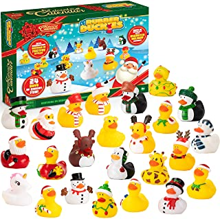 JOYIN Christmas 24 Days Countdown Advent Calendar with 24 Rubber Ducks for Boys, Girls, Kids and Toddlers, Christmas Party...