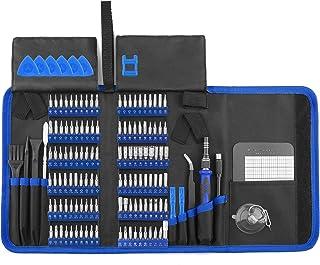 XOOL 140pcs Electronics Repair Tool Kit Professional, Precision Screwdriver Set Magnetic for Repair Cell Phone, iPhone, iP...