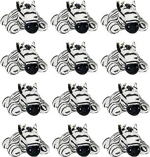 Wildlife Tree 12 Pack Zebra Mini 4 Inch Small Stuffed Animals, Bulk Bundle Zoo Animal Toys, Jungle Safari Party Favors for Kids