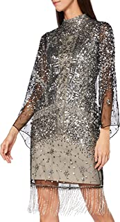 Frock and Frill Idele Embellished Dress with Flared Sleeve Vestido de Fiesta Formal para Mujer