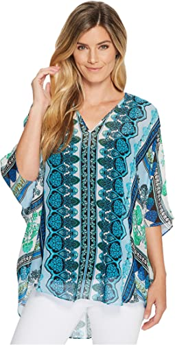 Meeting of the Minds Washed Silk Chiffon Top