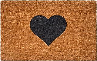Maine Furniture Co, Felpudo marrón con Forma de corazón-55 x 90 cm