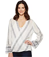 Dylan by True Grit - French Market Wrap Blouse