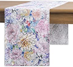 Maison d' Hermine Floral Love 100% Cotton Table Runner - Double Layer 14.5 Inch by 72 Inch