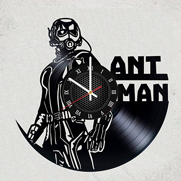 ANT MAN COMICS VINYL WALL CLOCK Beautiful Gift For Boyfriend Or Brother Or MARVEL Fan Merchandise Gifts For Kids Bedroom Decoration Art Comics AVENGERS Ant Man Hope Pym