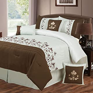 Bedford Home Hannah 7-Piece Embroidered Comforter Set, King