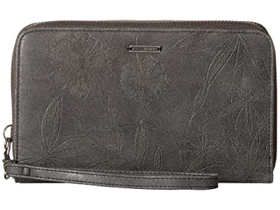 Roxy Won My Heart Wallet (True Black) Wallet Handbags