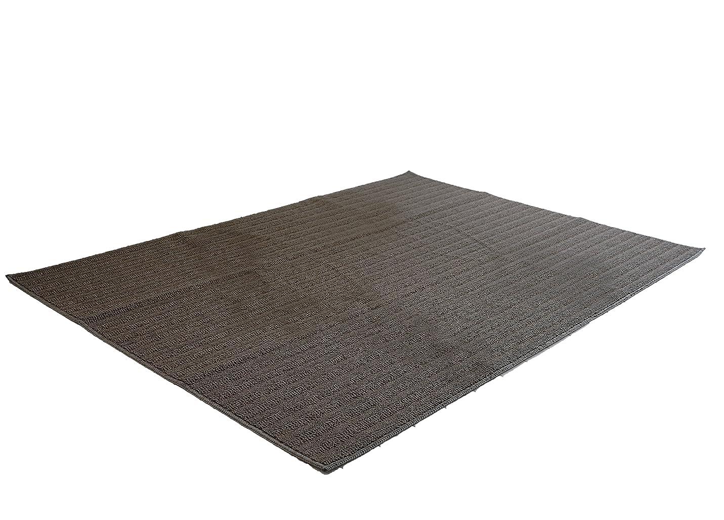 道路を作るプロセスガイド適合するスミノエ(Suminoe) ラグ?カーペット ブラウン 185×240cm 洗える 防ダニ ナチュール