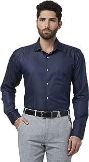 Park Avenue Solid Cotton Dark Blue Slim Fit Ainsley Full Sleeve Shirt