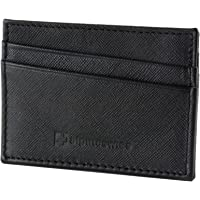 Alpine Swiss Front Pocket Minimalist Super Thin 5 Card Genuine Leather Wallet (Black / Blue)