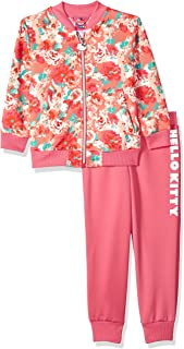 Hello Kitty Girls' Scuba Knit Bomber Jacket Pant Set