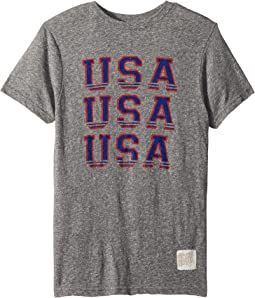 The Original Retro Brand Kids Vintage Tri-Blend USA Tee (Big Kids)