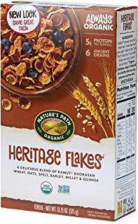 Nature's Path Heritage Flakes Whole Grains Cereal, Healthy, Organic, 13.25 Ounce Box, 6 Count