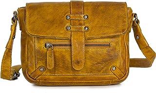 VEN TOMY Umhängetasche Damen Leder Handtaschen aus Büffelleder Vintage Tasche