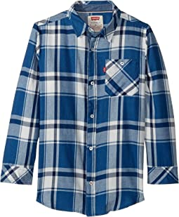 Long Sleeve Woven Shirt (Little Kids)