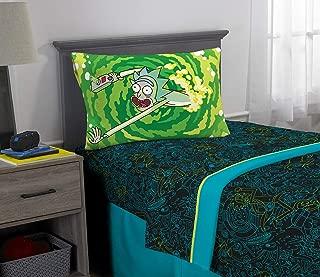 Franco Kids Bedding Super Soft Sheet Set, 3 Piece Twin Size, Rick and Morty
