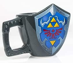 Paladone The Legend of Zelda Hylian Shield Ceramic Coffee Mug - Collectors Edition Shield Shape Cup