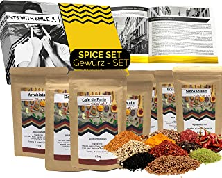 Spice Gift Set with exceptional flavoring Gift 7x50g Tea | fancy spices gift idea for men woman friend boyfriend dad | Spi...