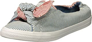 Converse Women's Knot Striped Chambray Slip on Sneaker