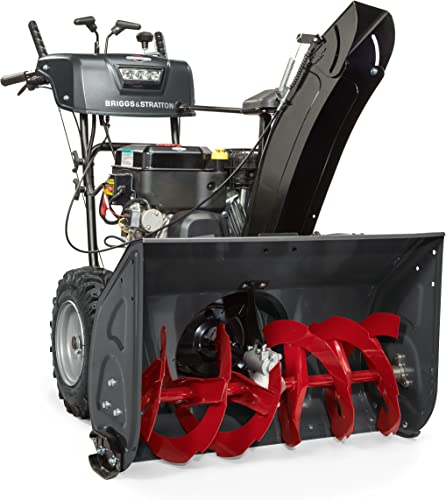 high quality Briggs & Stratton online sale 1530MDS Elite Series 30-Inch Dual-Stage Snow Blower with Push Button Electric Start, Heated Hand Grips, and online Dual-Trigger Steering online