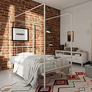 Novogratz Marion Canopy Bed,White, Twin